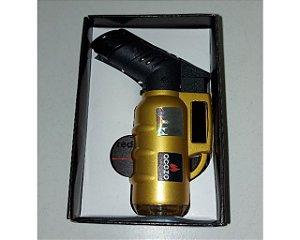 Isqueiro recarregável automático Acezo - cor DOURADO
