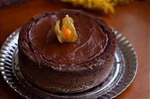 """Bolo """"Piscininha"""" de Chocolate com Café e Nutella"""