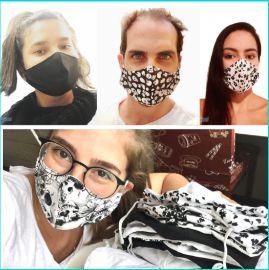 Máscara de Proteção Dupla 100% Algodão