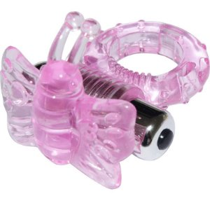 Anel Peniano com bullet de 7 Vibrações Butterfly - Cores Sortidas