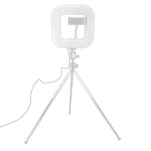 Squad Light - Luminária com tripé de mesa e suporte para celular