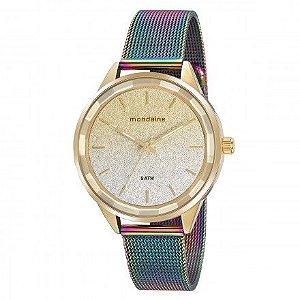 Relógio Mondaine Feminino Mostrador em Gliter