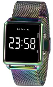 Relógio Lince Digital Furta-cor
