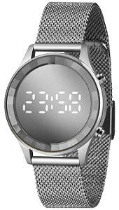 Relógio Lince Digital Feminino Fundo Prata