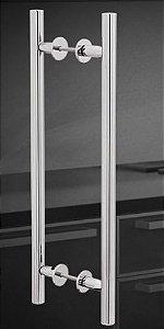 Puxador porta duplo 311 Aluminio 160 mm