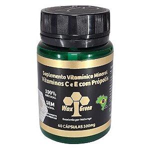 Própolis Verde 85% extrato seco (500mg) 60 cápsulas