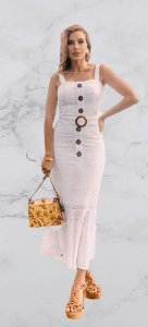 Vestido Lasie Livia Branco N.N