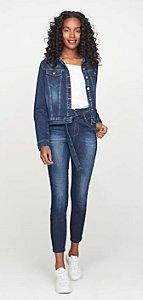 Calça Jeans Skinny com Cinto G4 Patogê