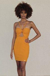 Vestido Curto Justo Ondule Amarelo