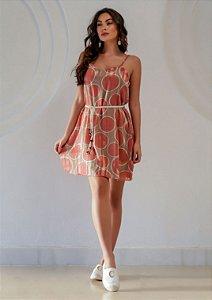 Vestido Curto Poá Rosa