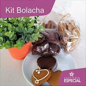 Kit Bolacha 300g - 3 sabores (rústica, com chocolate e com glacê)