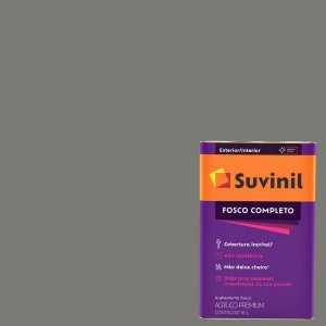 Tinta Acrilica Fosco Completo Hematita latão com 16 litros - Suvinil