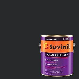 Tinta Acrilica Fosco Completo Preto Absoluto galão com 3,2 litros - Suvinil