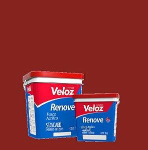 Tinta Acrílica Trufa Vermelha Fosco Renove Galão com 3,6L Int/Ext - Veloz