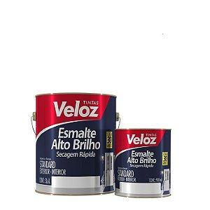 Tinta Esmalte Branco Alto Brilho 1/4 com 900ml - Veloz