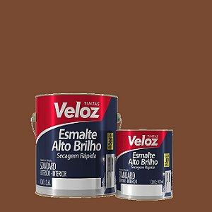 Tinta Esmalte Tabaco Alto Brilho galão com 3,6 litros - Veloz