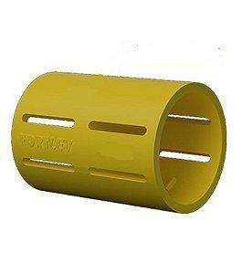"""Luva 1/2"""" eletroduto flexivel amarelo - fortlev"""