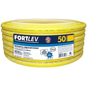 """Eletroduto 1/2"""" flexivel rolo com 50 metros - fortlev"""