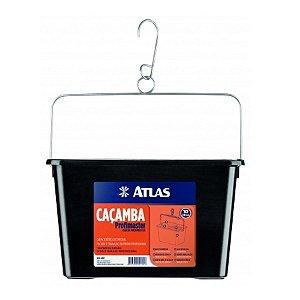 Caçamba para pintura preta com 10l - atlas
