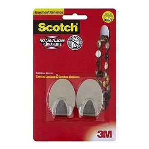 Gancho metalico com 2 unidades scotch - 3m