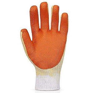 Luva tricotada palma emborrachada laranja - fortflex