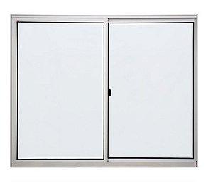 Janela de alumínio 0,80m alt. X 0,80m lar. 2 folhas com vidro liso - Quality