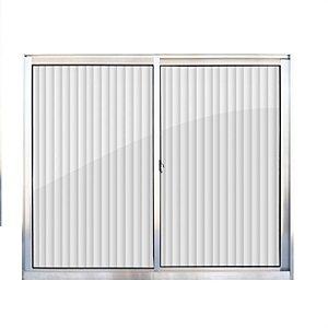 Janela de aluminio 1,00m alt. X 0,80m lar. 2 folhas com vidro canelado - Quality