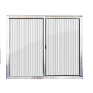 Janela de alumínio 1,00m alt. X 1,20m lar. 2 folhas com vidro canelado - Quality