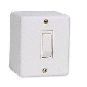 Interruptor simples 10A sobrepor sistema x stylus - ilumi
