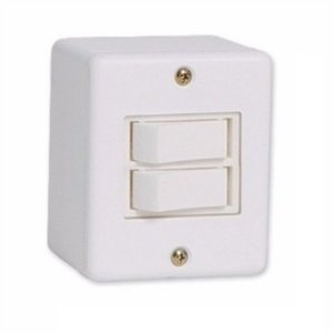 Interruptor duplo 10A soprepor sistema x stylus - ilumi