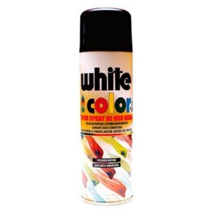 Spray preto fosco 300ml - white color