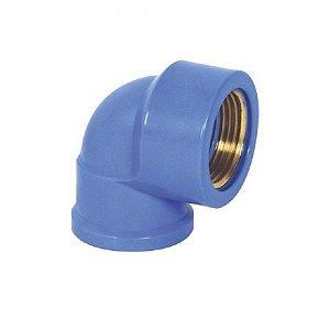 "Joelho 90° azul com bucha latão 25mm x 1/2"" - krona"