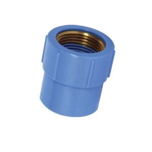 "Luva 20mm x 1/2"" azul com bucha latão - krona"