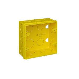 Caixa 4 x 4 amarela - fortlev