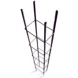 """Coluna 3/8"""" = 10.0mm 7cm x 17cm com 6 metros - sinobras"""