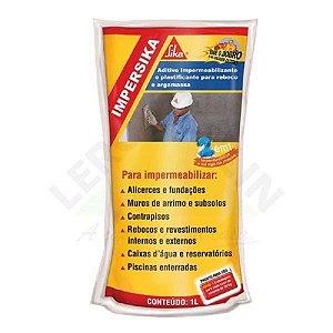 Impermeabilizante aditivo impersika saco com 1 litros - sika