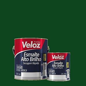 Tinta Esmalte Verde Folha Alto Brilho 1/4 com 900ml - Veloz