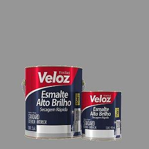Tinta Esmalte Platina Alto Brilho 1/4 com 900ml - Veloz