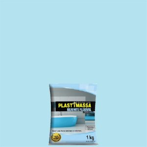 Rejunte azul médio com 1kg - plastimassa
