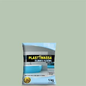 Rejunte verde agua com 1kg - plastimassa