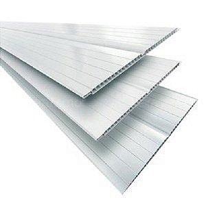 Forro PVC Branco Gelo 5,00mt x 20cm - Plasflex