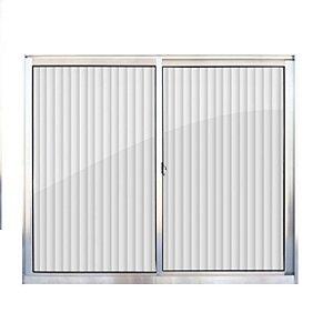 Janela de aluminio 2 folhas alt.1,00x1,00mt lar. vidro canelado - Indimel