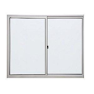 Janela de aluminio 2 folhas alt.1,00x1,00mt lar. vidro liso - Indimel