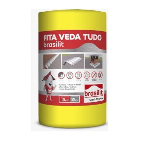 Manta 10cm VedaTudo aluminio rolo com 10 metros - Brasilit
