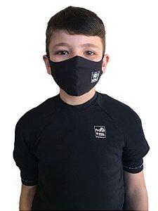 Máscara Antivirais Permanente - Anatômica, Infantil (PRETA)