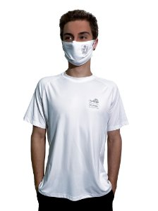 Camiseta Antiviral Permanente Adulta - Manga Curta (BRANCA)