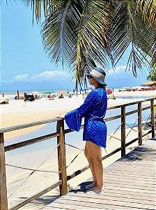 Saída de Praia Premiun Azul Ultramarine  UV 50+