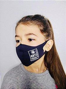 Máscara Antiviral Permanente - Anatômica, Infantil (Azul marinho)
