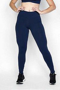 Calça Legging Emana Lisa Azul marinho