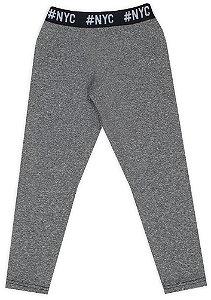 Calça tamanho 4 a 16 Athletic flanelada com Elástico na Cintura - Cor Mescla